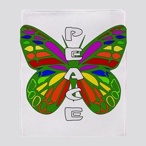 Peace Butterfly Throw Blanket