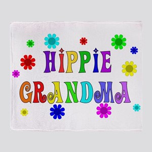 Hippie Grandma Throw Blanket