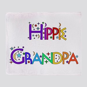 Hippie Grandpa Throw Blanket