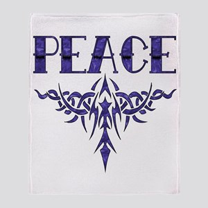 Peace Art Throw Blanket
