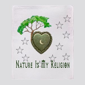 Nature Is My Religion Throw Blanket