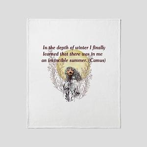 Winter Pagan Goddess Throw Blanket