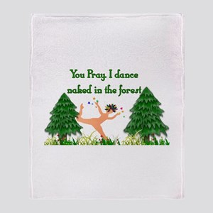 Naked Pagan Throw Blanket
