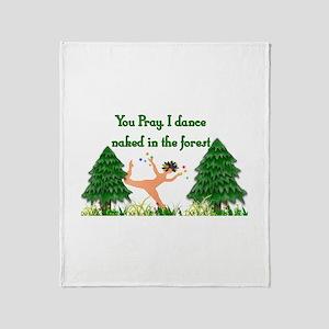 Naked Pagan Throw Blanket