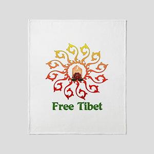 Free Tibet Candle Throw Blanket