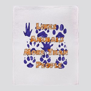 Animal Lover Throw Blanket