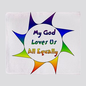 Equal Love Throw Blanket