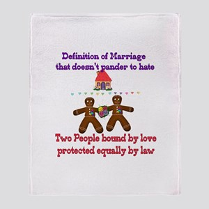 Gay Marriage Throw Blanket