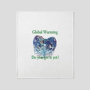 Global Warming Throw Blanket