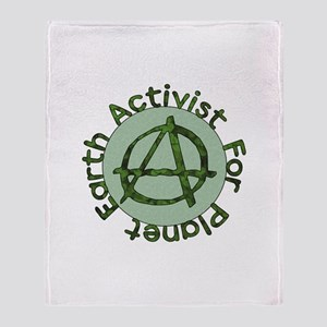 Earth Activist Throw Blanket
