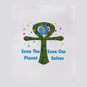 Save The Earth Throw Blanket