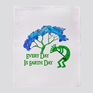 Earth Day Kokopelli Throw Blanket