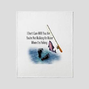 Fishing Here! Throw Blanket