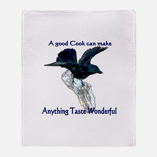 Eating Crow Throw Blanket