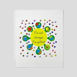 Gifted Not Strange Throw Blanket