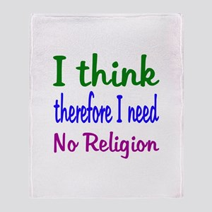 Think For Myself Throw Blanket