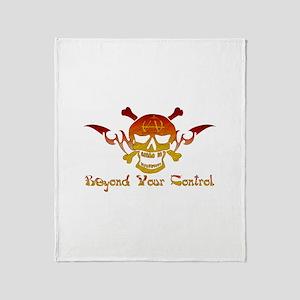 Anarchist Skull Throw Blanket