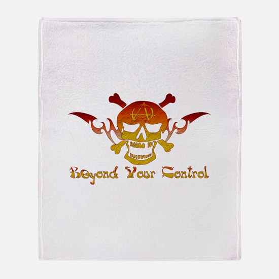 Anarchist Skull Throw Blanket