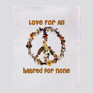 Dogs Of Peace Throw Blanket