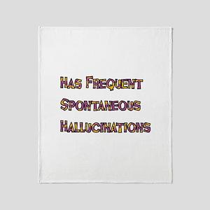 Hallucinations Throw Blanket