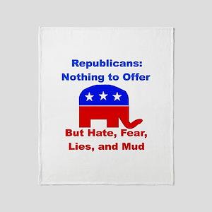 Anti-Republican Throw Blanket