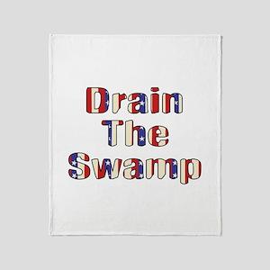 Drain The Swamp Throw Blanket