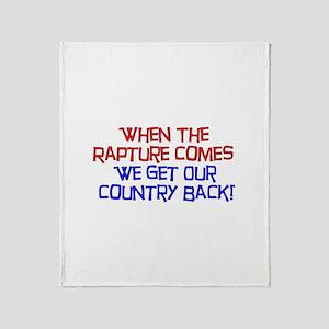 Rapture Wingnuts Throw Blanket