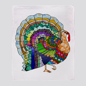 Patchwork Thanksgiving Turkey Throw Blanket