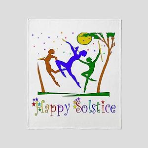 Winter Solstice Dancers Throw Blanket