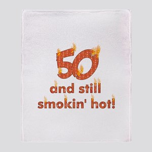 Hot Smokin' and Fifty Throw Blanket