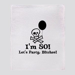 50th Birthday Party Throw Blanket