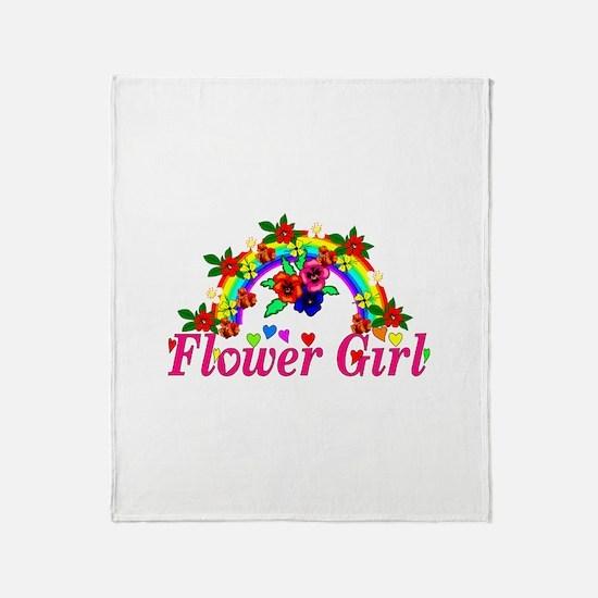 Wedding Flower Girl Throw Blanket