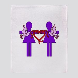 Same Sex Marriage Female Throw Blanket