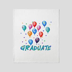 Graduation Balloons Throw Blanket