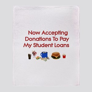 Student Loan Donations Throw Blanket