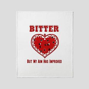 Bitter Bullet Heart Throw Blanket