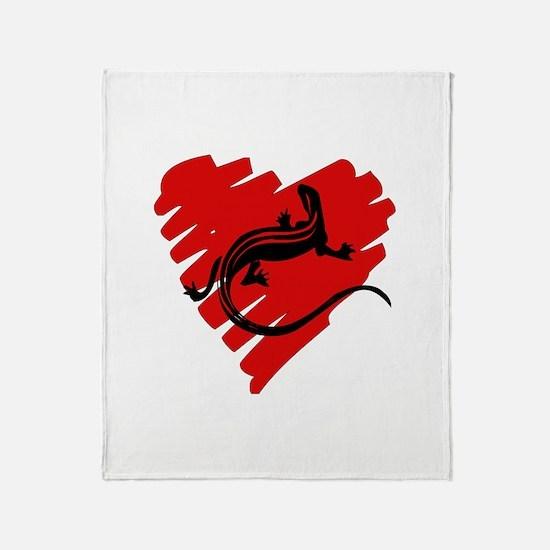 Heart Of Newt Anti-Valentine Throw Blanket