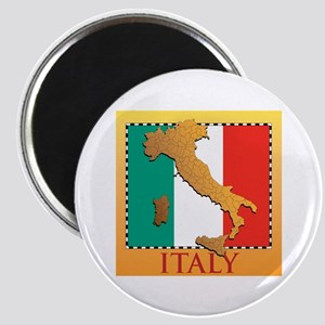 Italy Map with Flag Magnet