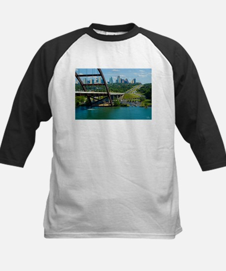 Austin Texas Skyline Bridge Kids Baseball Jersey