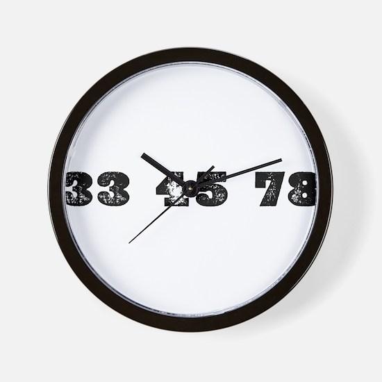 Revolutions per minute Wall Clock