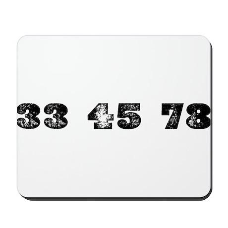 Revolutions per minute Mousepad