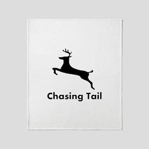 Chasing Tail Throw Blanket