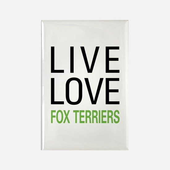 Live Love Fox Terriers Rectangle Magnet (100 pack)
