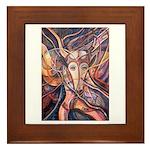 African Antelope 1 Framed Tile
