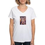 African Antelope 1 Women's V-Neck T-Shirt