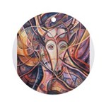 African Antelope 1 Ornament (Round)