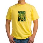 African Antelope Green Yellow T-Shirt