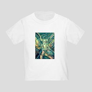African Antelope Green Toddler T-Shirt