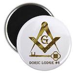 Doric Lodge #6 Magnet