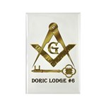 Doric Lodge #6 Rectangle Magnet (100 pack)
